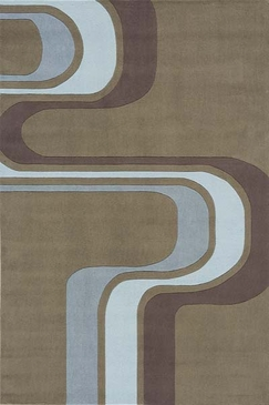 Army Green Hipster Waves Rug