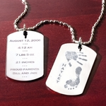Baby Birth Celebration Tag Necklace