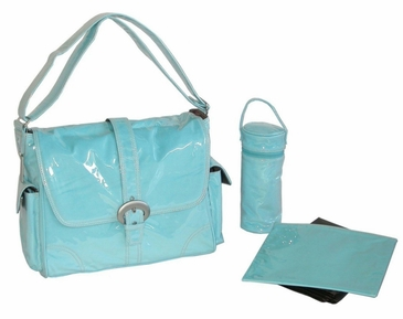 Baby Blue - Laminated Buckle Diaper Bag by Kalencom
