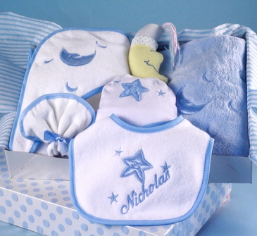 Baby Boy Personalized Layette Set