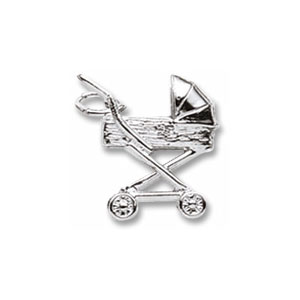Baby Carriage Tall Charm by Forever Charms