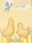 Baby Chicks Pastel Blue Stretched Art Personalized by Dish and Spoon - click to Enlarge