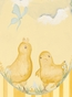 Baby Chicks Pastel Green Stretched Art Personalized by Dish and Spoon - click to Enlarge