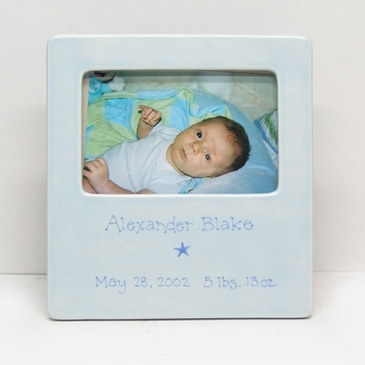 Baby Picture Frame with Personalized Message