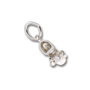 Baby Shoe April Birthstone Charm by Forever Charms