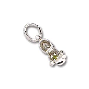 Baby Shoe August Birthstone Charm by Forever Charms