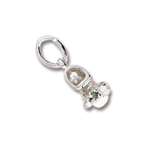 Baby Shoe May Birthstone Charm by Forever Charms