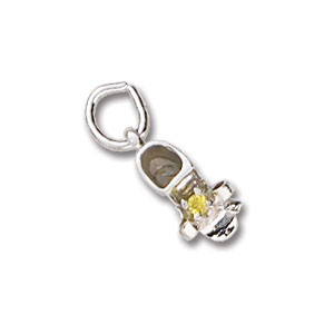 Baby Shoe November Birthstone Charm by Forever Charms