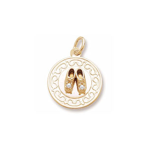 Baby Shoes Disc Charm by Forever Charms - Personalized