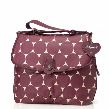 Babymel Satchel Jumbo Dot�Cherry Diaper Bag