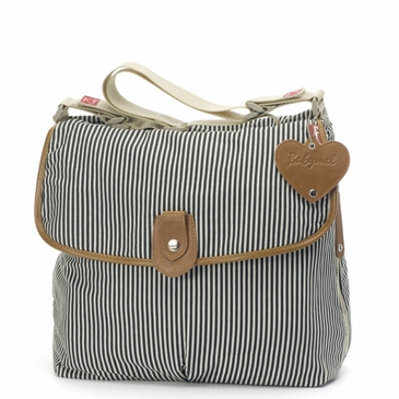 Babymel Satchel Navy Stripe Diaper Bag