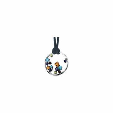 Beautiful Circle Necklace with Multicolored gems