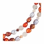 Beautiful Pearl & Agate Bead Necklace - click to Enlarge