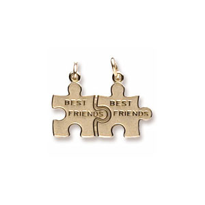 Best Friend Puzzle Charm by Forever Charms - Personalized