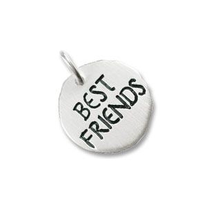 Best Friends Tag Charm by Forever Charms - Personalized
