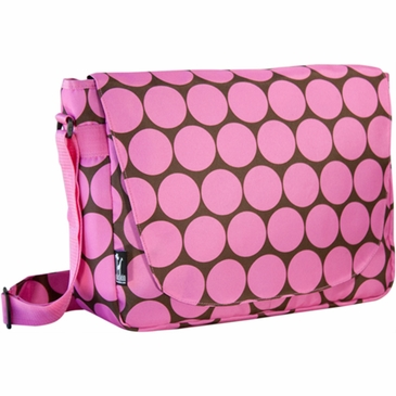 Big Dots Pink Kids Laptop Messenger Bag