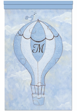 Birdie Balloon Ride I Wall Hanging Personalized by Dish and Spoon