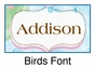 "Birds and Trees Canvas Wall Art Personalized - 15"" x 15"" - click to Enlarge"