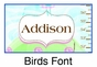Birds Growth Chart Personalized - click to Enlarge