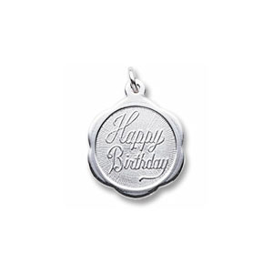 Birthday Fluted Disc Charm by Forever Charms - Personalized