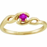 Birthstone Solitaire Trellis Ring