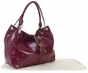 Black Faux Patent Magnolia Baby Bag by Amy Michelle - click to Enlarge
