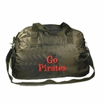 Black Personalized Carryall Duffel Bag