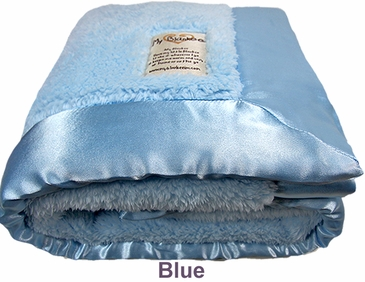 Blue Fuzzy Blanket by My Blankee