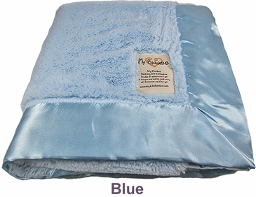 Blue Luxe Blanket by My Blankee