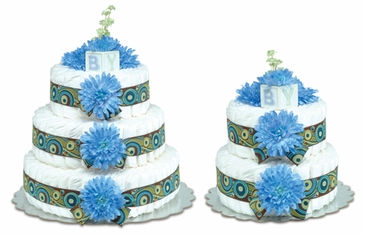 Blue Mums - Groovy Baby Diaper Cakes