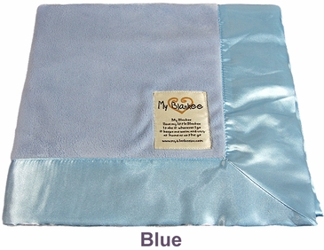 Blue Solid Velour Blanket by My Blankee
