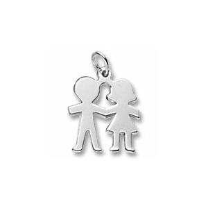 Boy And Girl Stick Figure Charm by Forever Charms