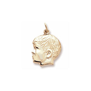 Boy Left Profile Charm by Forever Charms - Personalized