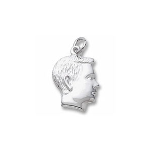 Boy Right Profile Charm by Forever Charms - Personalized
