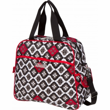 Brittany Backpack Royal Ruby Montage Diaper Bag by Bumble Bags