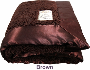 Brown Fuzzy Blanket by My Blankee
