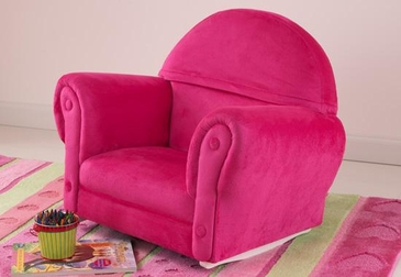 Bubblegum Velour Rocker with Slip Cover