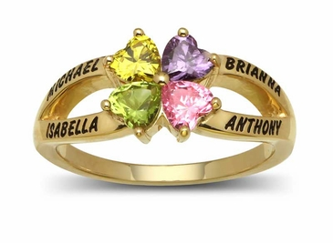 Butterfly Gemstone Name Ring