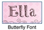 Butterfly Growth Chart Personalized - click to Enlarge