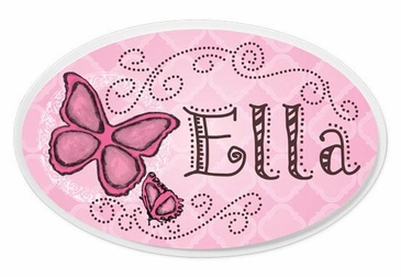 Butterfly Oval Wall Plaque Personalized