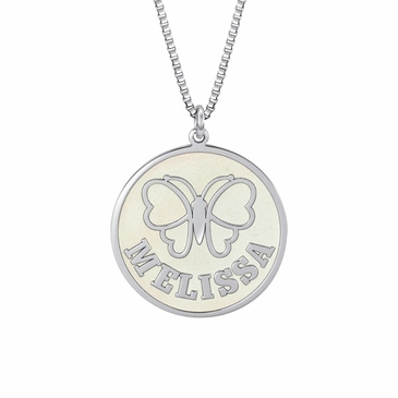 Butterfly Personalized Pendant Necklace
