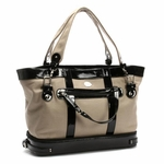 Canvas Khaki/Black Diaper Bag by Nest  (On Sale!)