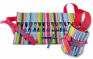 Carry Me Crayon Keeper Pink Stripe
