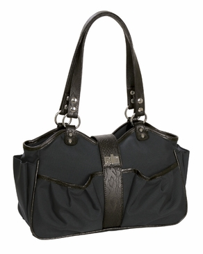 Caryn Espresso/Black Diaper Bag by Mia Bossi (SALE)