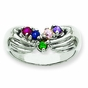 Celtic Family Birthstone Ring - click to Enlarge