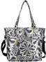 Charcoal Floral New Orleans Baby Bag by Amy Michelle - click to Enlarge