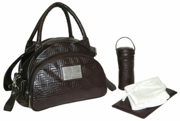 Chocolate - Quilted Traveler Diaper Bag by Kalencom