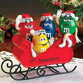 Christmas M&M Figurine - Hand-painted with Your Name