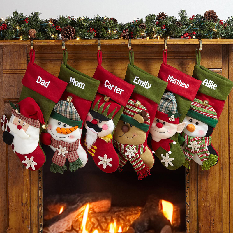 how to put names on furry christmas stockings
