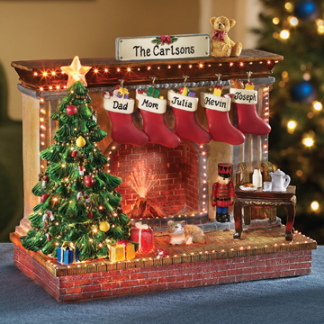 Christmas Tree Hearth with Family Names